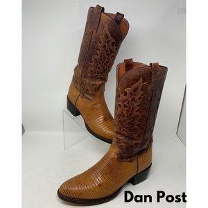 Dan Post Brown Lizard Skin Cowboy Boots